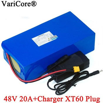 VariCore 48V 20ah 13s6p Lithium Battery Pack 48V 20AH 2000W electric bicycle battery Built in 50A BMS XT60 plug+54.6V Charger