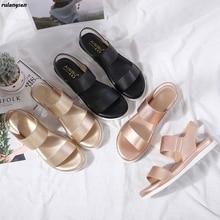 Flat Sandals Beach-Shoes Ladies Footwear Open-Toe Comfortable Temperament Soft 36-42