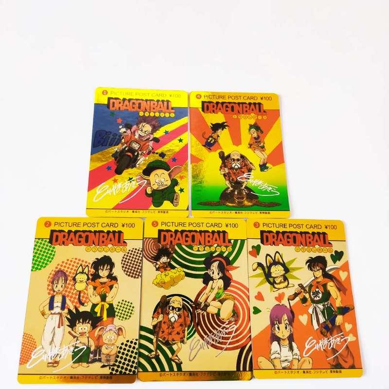 5pcs/set Dragon Ball Z Super Saiyan Goku Vegeta Game Action Figures Commemorative Edition Collection Cards Free Shipping Limit
