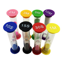 8 Set Sand Timer Clock 10/ 15/ 30 Seconds & 1/ 2/ 3/ 5/ 10 Minutes Sandglass Hourglass Kitchen Tool Home Decoration