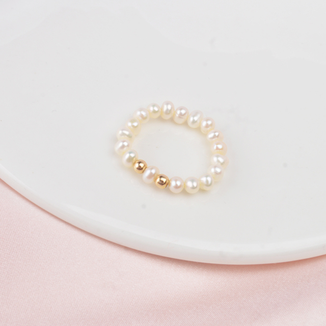 ASHIQI 2019 Fashion 3-4mm Mini Small Natural Freshwater Pearl Rings for Women Real 925 Sterling Silver Jewelry for Women Gift 3