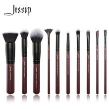 Кисти для макияжа Jessup 10 шт./компл. кисти для макияжа сливовые косметические инструменты набор кистей для макияжа смесь основы теней для век
