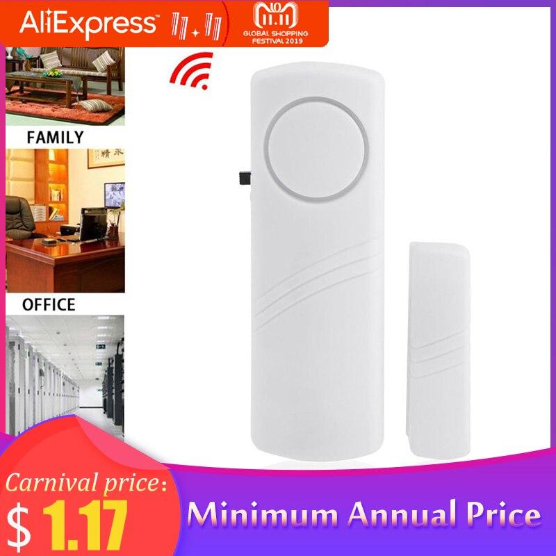 Door Window Wireless Burglar Alarm With Magnetic Sensor Home Safety Wireless Longer System Security Device