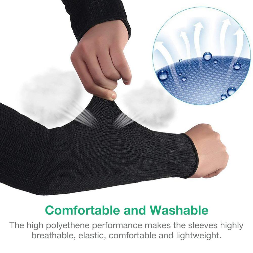 1 Pair Of Arm Protective Sleeves Kevlar Cut Resistant Heat Resistant Sleeves Anti Abrasion Safety Armband For Garden Kitchen