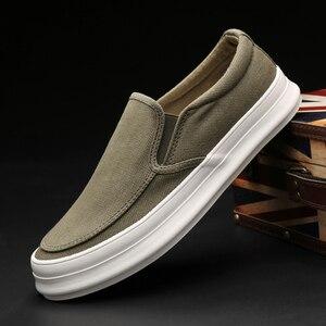Image 3 - Кроссовки Monstceler мужские холщовые, повседневная обувь, без шнуровки, толстая плоская подошва, роскошная Вулканизированная подошва, весна осень