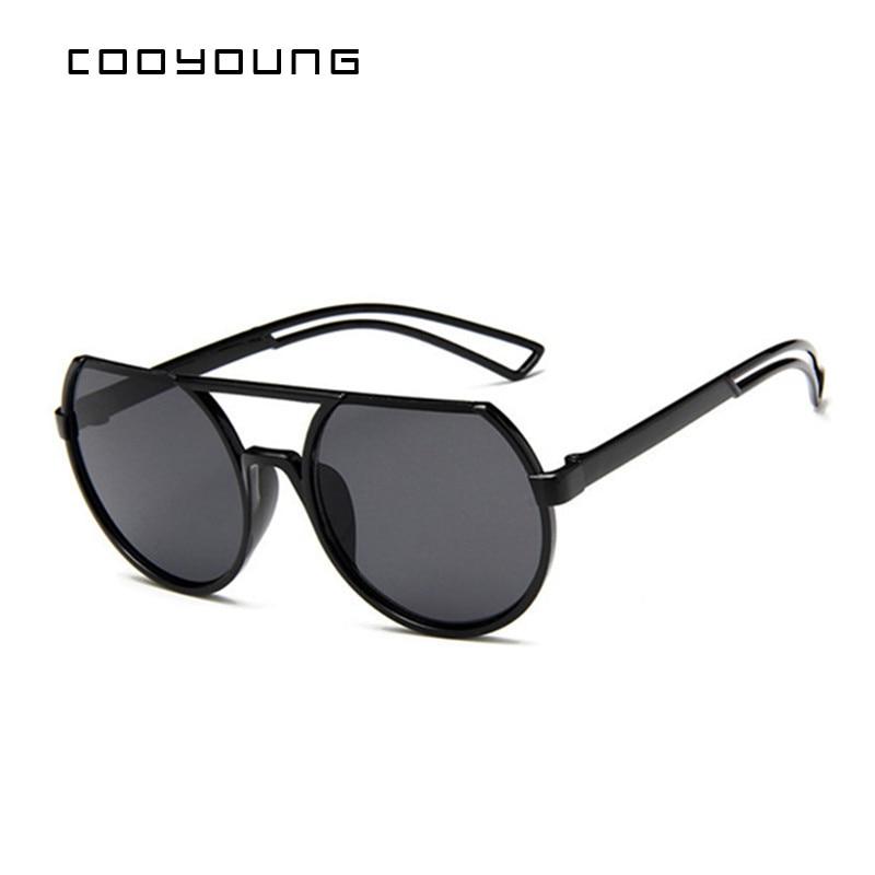 COOYOUNG  Top Sale Brand Designer Sunglasses Women Luxury Round Candies Lens Lady Round Sun Glasses Classic Retro Goggle