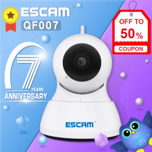 ESCAM QF007 1MP 720P WiFi IR alarme panoramique/inclinaison IP caméra prise en charge 64G TF carte(China)