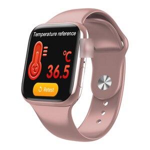 Умные часы W98 с температурным режимом, Bluetooth, пульсометром, смарт-часами IWO 10 lite для iPhone, телефонов Android, PK Iwo 11 13