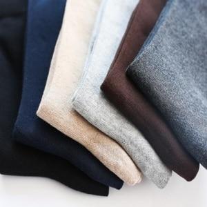 Image 5 - 12PCS = 6 זוגות 46, 47,48, 49,50 איחוד אירופי בתוספת גודל ארוך מוצק צבע גרבי גברים