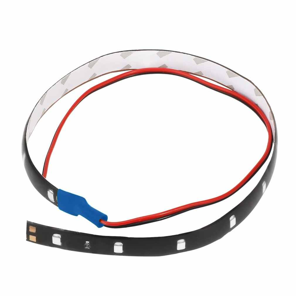 Tahan Air 30 Cm 15LED Super Bright Auto Mobil Lampu Strip Fleksibel Siang Hari Motor Truk Mobil Lampu Strip Lampu