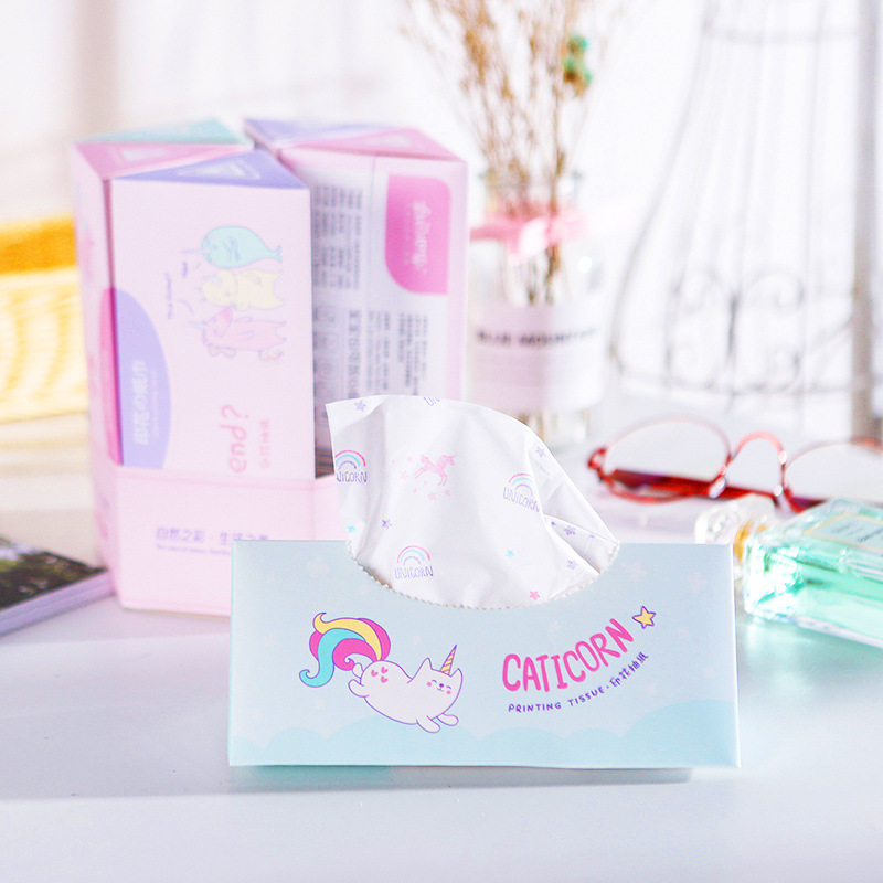 New-Style Printed Unicorn Triangular Paper Extraction Unscented Manufacturers Direct Selling-Support A Generation Of Fat Wholesa
