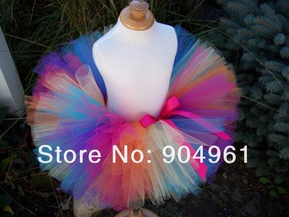 Meninas Rainbow Tutu Aniversário Saia Tutu Ballet Traje Tutu Saia Saia Bebê