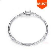 Offre spéciale SG 20cm serpent chaîne réel 925 en argent Sterling original Bracelet à breloques de luxe mode bijoux à bricoler soi même faire pour les femmes cadeaux