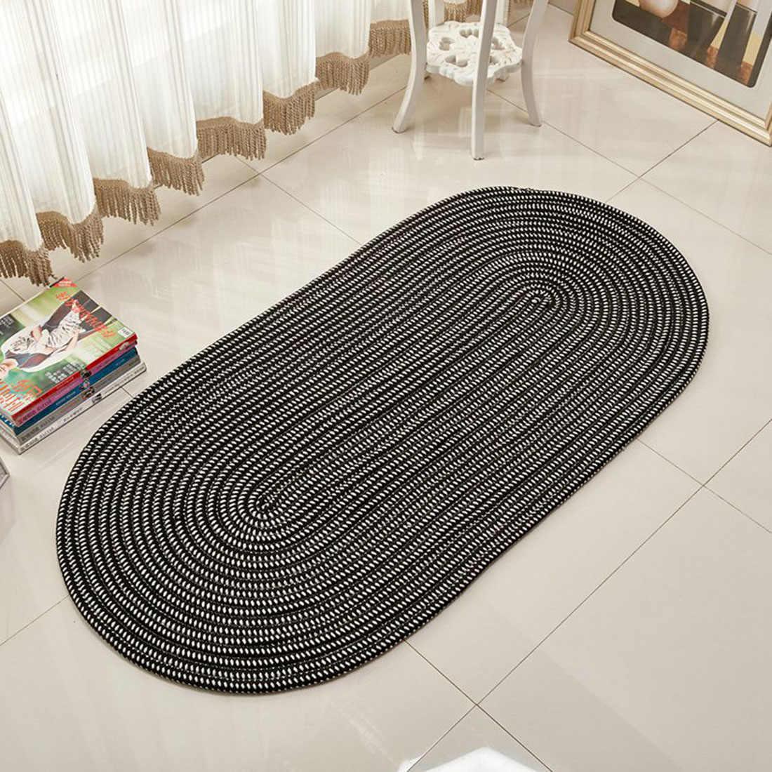 Hot Sales Oval Carpet Braided Area Rug Throw Rug For Living Room Bedroom Hallway Kitchen Washable Floor Mat Non Slip Doormat Rug Aliexpress