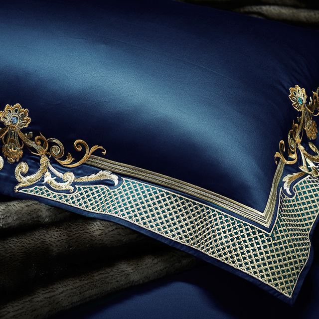 Morpheus Luxury Egyptian Cotton Bedding set King and Queen Bedding Set Embroidery Duvet Cover Set - MP42