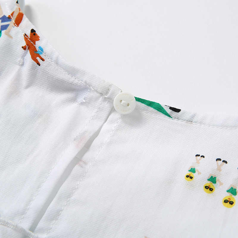 Balabala kız gömlek kısa kollu bebek 2020 yaz çocuk gömlek gevşek moda rahat yuvarlak boyun