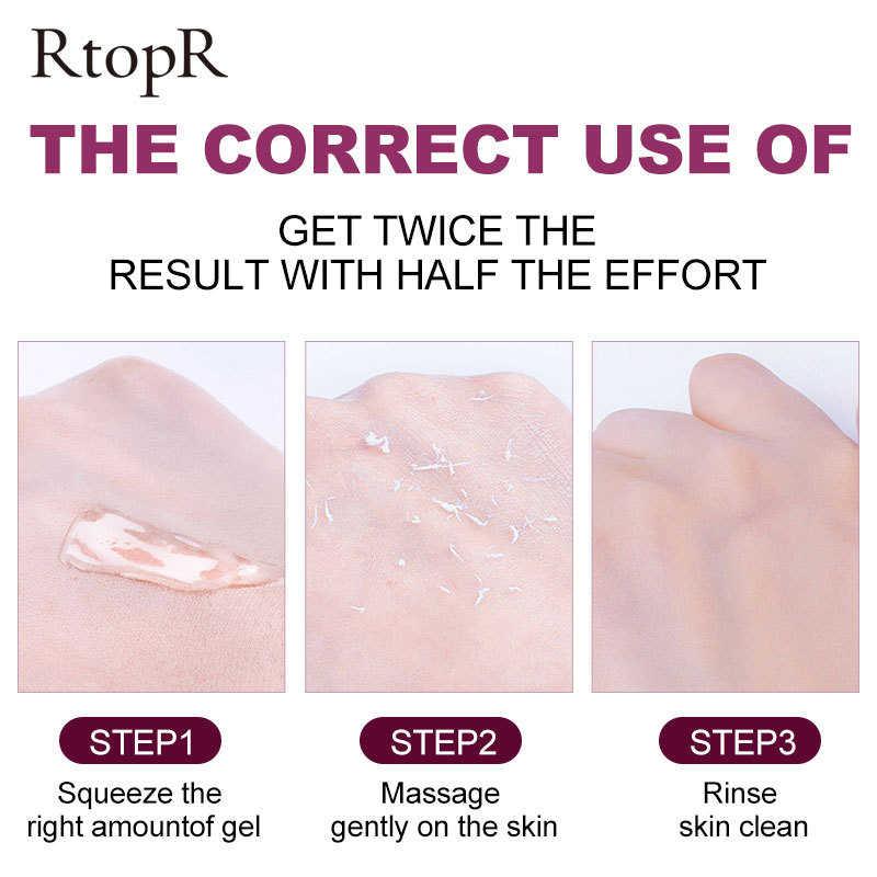 Perawatan Kulit Wajah Ringan Exfoliating Cream Whitening Pelembab Memperbaiki Facial Scrub Cleaner Jerawat Komedo Perawatan Menghapus Wajah