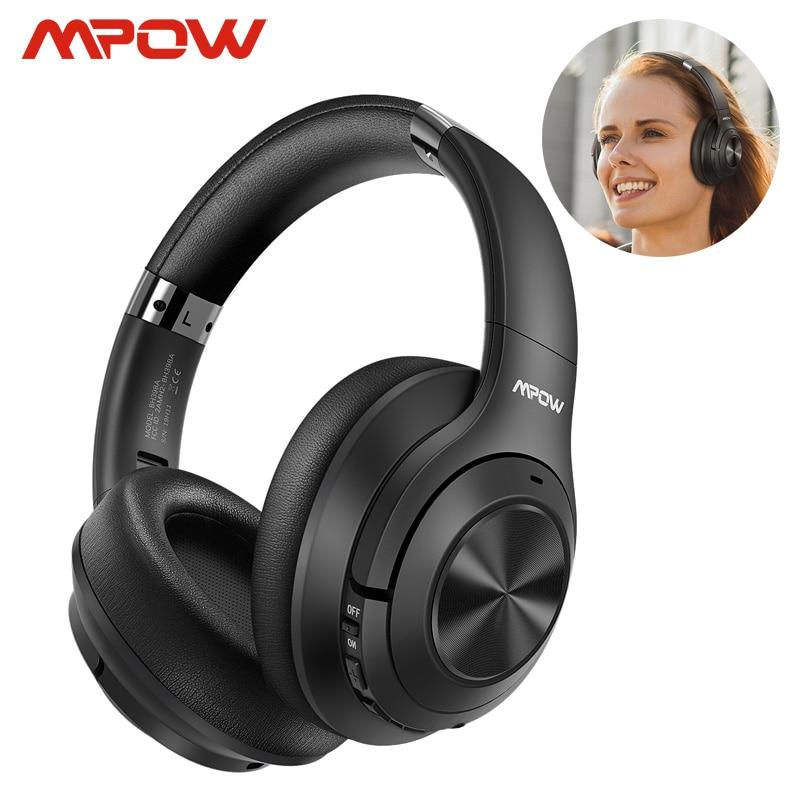 Mpow h21hybrid active noise cancelling fone de ouvido sem fio bluetooth 5.0 fones música 40h playtime cvc 6.0 para iphone 11 xiaomi