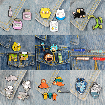 Super Bargain Enamel Pin Sets ! Cartoon TV Show Koala Sloth Cat Ocean Heart Brooches Badges Lapel pins 1