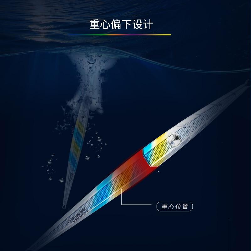 ECOODA MAGPIE Fast Metal Jigging Lure Artificial Metal Jig Luminous Jig 120/160/200/300g Saltwater Lure Fast Fall Fishing Jig