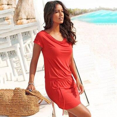 Tunic Design Wish AliExpress EBay Amazon New Explosion Models 2020 Summer European And American Foreign Rrade Lace Dress LA8821(China)