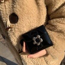 Fashion Cute Women Purse PU Bright Leather Design Wallet Sweet Ladies Mini Purses Vintage Style Female Short Wallets Card Bag