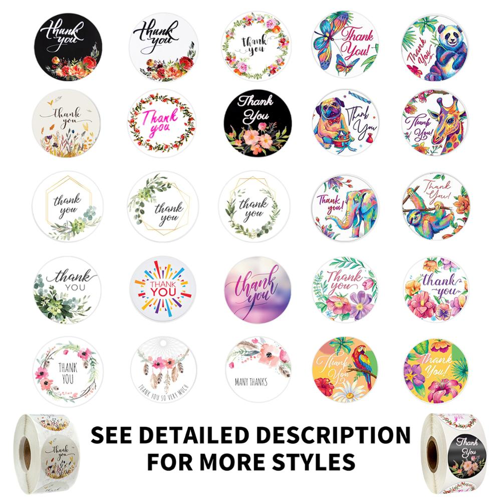 20 Kinds Colored Thank You Stickers Seal Labels Cute Stickers 500 Pcs Per Roll Scrapbook Stationery Sticker Little Stickers