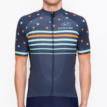 цена на Peloton de Paris Summer Men's Bicycle Clothes Quick Dry Short Sleeve Cycling Jerseys Set Bike Maillot Ciclismo Cycling Clothing