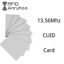 100 adet RFID erişim kontrolü anahtar NFC akıllı çip rozeti 0 blok yazılabilir 13.56Mhz CUID kart MF 1K s50 yeniden yazılabilir anahtar klon etiketi