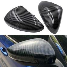 2pcs Auto Carbon Fiber Rear Mirror Cover Shell Cap Housing For Ford Focus 2019 2020 European Version
