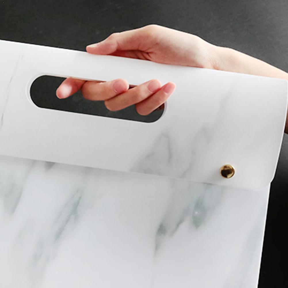 Waterproof A4 File Document Bag Folder Organize Portable Expanding Folder Document File Marble Supplies School Bag Office P W1Q7