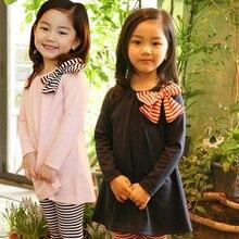 Одежда для девочек футболка с длинным рукавом на весну и осень