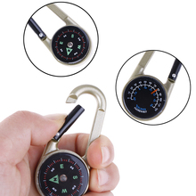 Keychain Hanging-Compass Zine-Alloy-Carabiner Metal Multifunctional Camping Hiking No