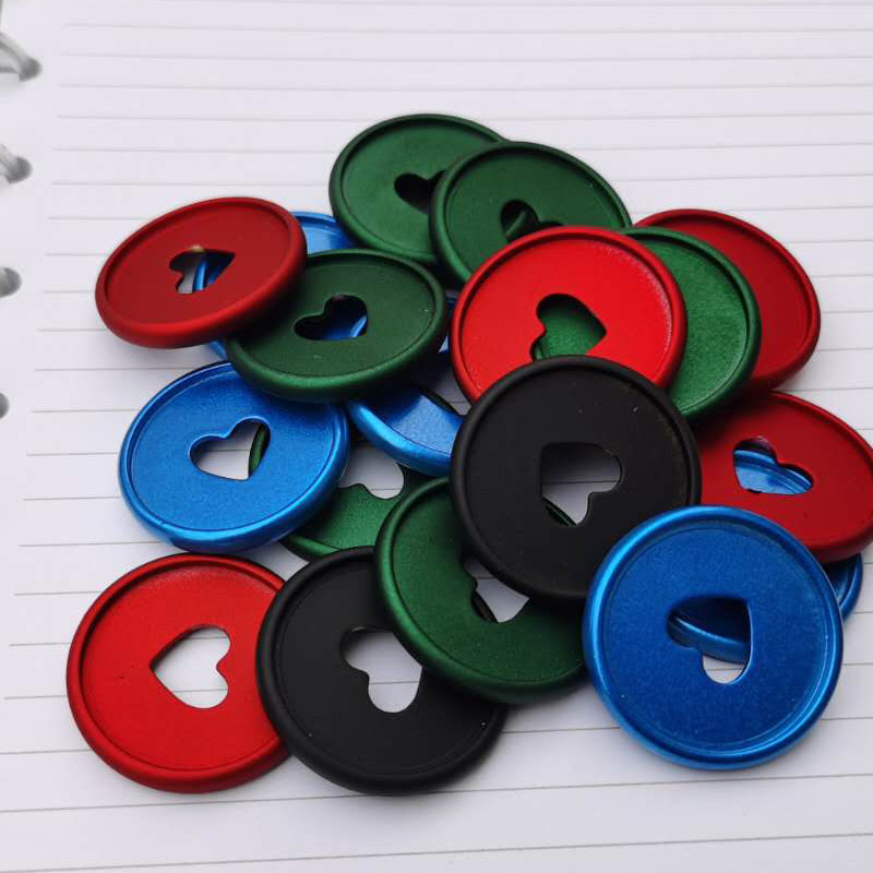 NEW 100pcs Binding Ring Buckle PlasticRing Mushroom Hole Loose-leaf Notepad Plastic Binding Discs Macaron Disk Binding Filing
