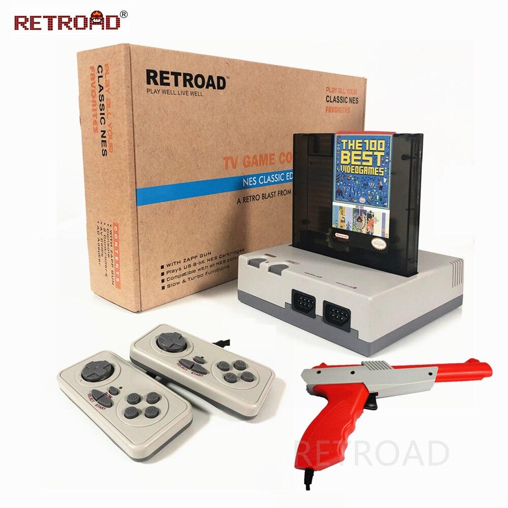 Retroad hm5 8bit classic edition console para 72p 60p cartucho retro família sistema de jogos de vídeo com zapp arma pato tiro