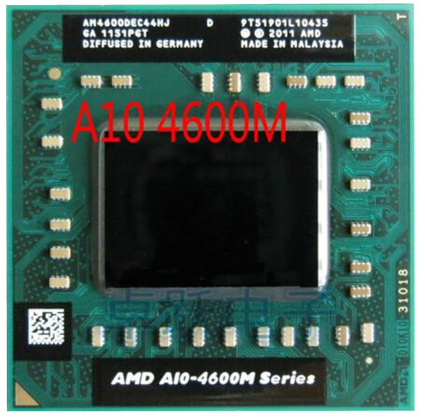 Original intel AMD laptop Mobile A10 4600M A10 4600m original Socket FS1 CPU 4M Cache/2.3GHz/Quad Core processor free shipping