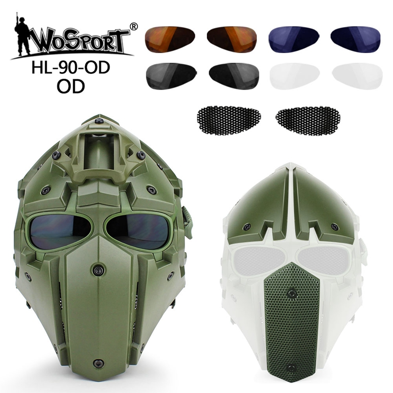 Image 5 - Tactical Full Face Airsoft Paintball Mask Military Army  Adjustable Protective CS Game Mask Helmet TacticsHelmets   -