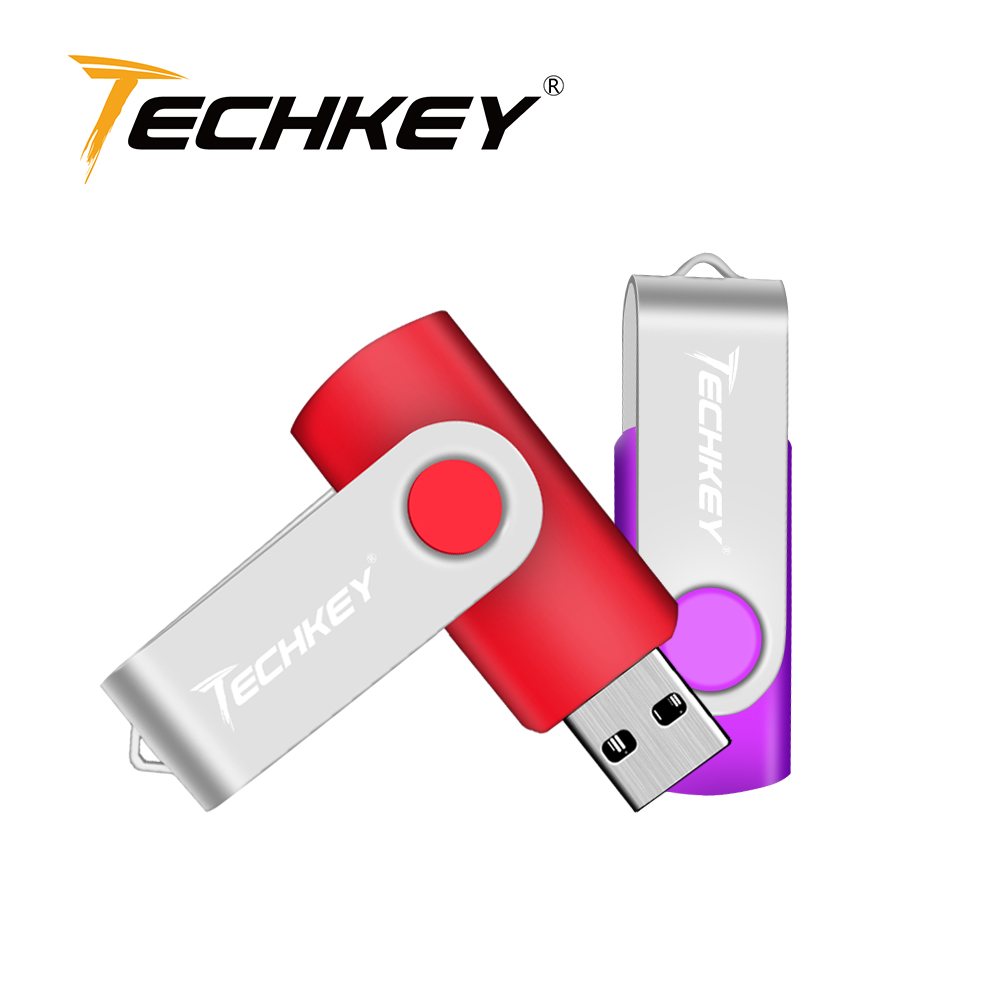 Techkey 2018 Newest Usb Flash Drive 4gb 8gb Pendrive 16gb 32gb флешка Storage Usb Stick For Phone Memory Stick Free Shipping
