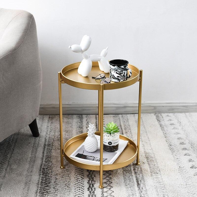 Mesas de sala de estar de hierro nórdico mesas laterales de café muebles gabinetes de esquina sala de estar moderna mesa de café de té moderna - 3