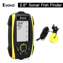 Eyoyo E4 Portable Fish Finder Sonar Sensor Transducer Echo Sounder Alarm Detector 0.6-72m Depth Fishfinder Sea sondeur peche bluetooth fish detector 125khz sonar sensor wireless sonar portable fish finder sensor echo sounder detector alarm accessories