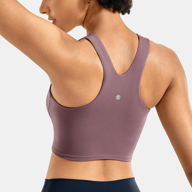 High Neck Longline Sports Bra