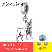 Unique design 100% 925 Silver Loyal Partners Dog Animal Beads fit pandora Charm Bracelet DIY fine Jewelry Women free shipping цена