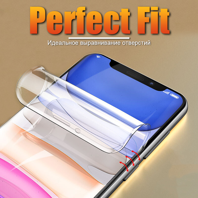 Full Coverage Hydrogel <font><b>Film</b></font> For <font><b>iPhone</b></font> 7 8 6 6S Plus Screen Protector <font><b>Film</b></font> For <font><b>iPhone</b></font> 11 Pro <font><b>X</b></font> XR <font><b>XS</b></font> Max Soft Protective <font><b>Film</b></font> image