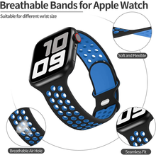 Sport Strap For Apple Watch Band 6 SE 5 4 44mm 40mm Silicone Breathable Belt Bracelet to iWatch Watchband Series 54321 38mm 42mm