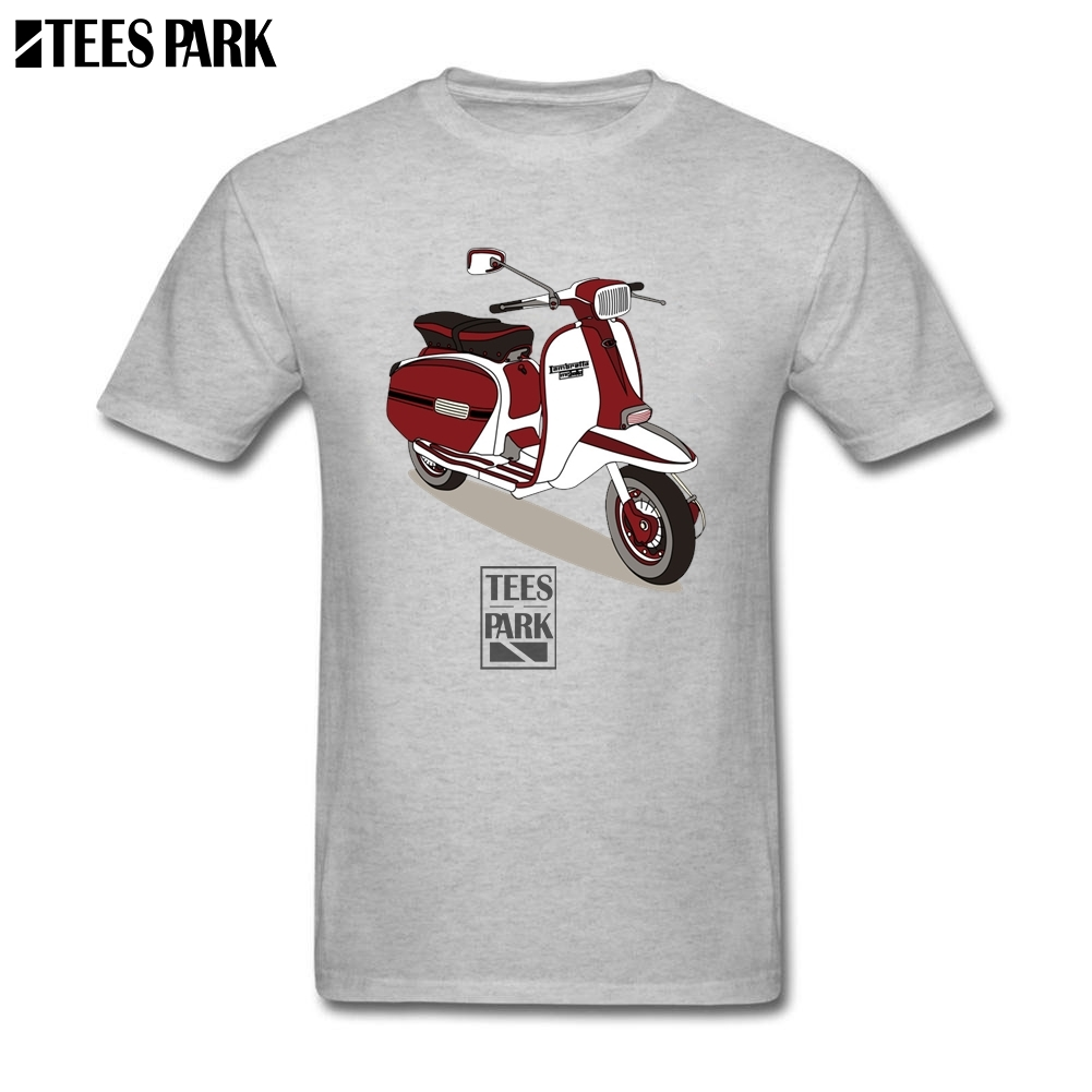 Famous Design Lambretta Vespa Cotton T Shirts Men Cotton Short Sleeve Tee Normal 2020 Motorcycle Tee Shirts Plus Size Fashion