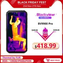 Blackview BV9900 Pro термокамера смартфон IP68 Водонепроницаемый 8 Гб 128 ГБ Helio P90 Восьмиядерный прочный четырехъядерный мобильный телефон