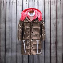 2019 Winter Warm Down Jacket For Girls Long Waterproof Kids Outerwear -30 Degrees Coats For 3-14 Years Teenage Parka For Girls