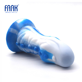 цена FAAK colorful anal plug silicone butt plug with suction cup white blue pumpy sex toys for men women vagina masturbate anal dildo онлайн в 2017 году