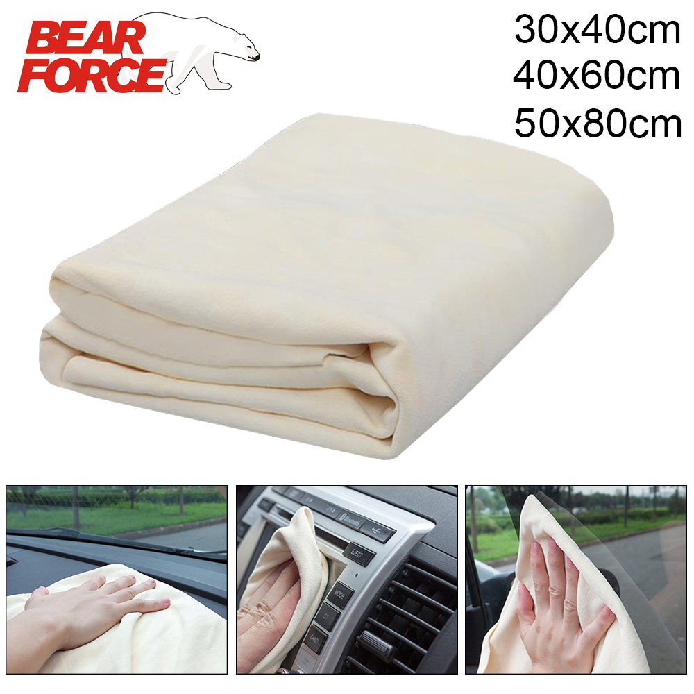 Natural Shammy Chamois Leather Auto Car Detailing Cleaning Cloth Car Wash Suede Absorbent Quick Dry Towel Genuine  Sheepskin