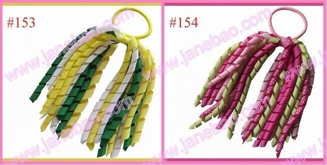 100 шт Популярные коркер конский хвост держатели стример для смешанных цветов шевронная лента заколки с бантами для волос